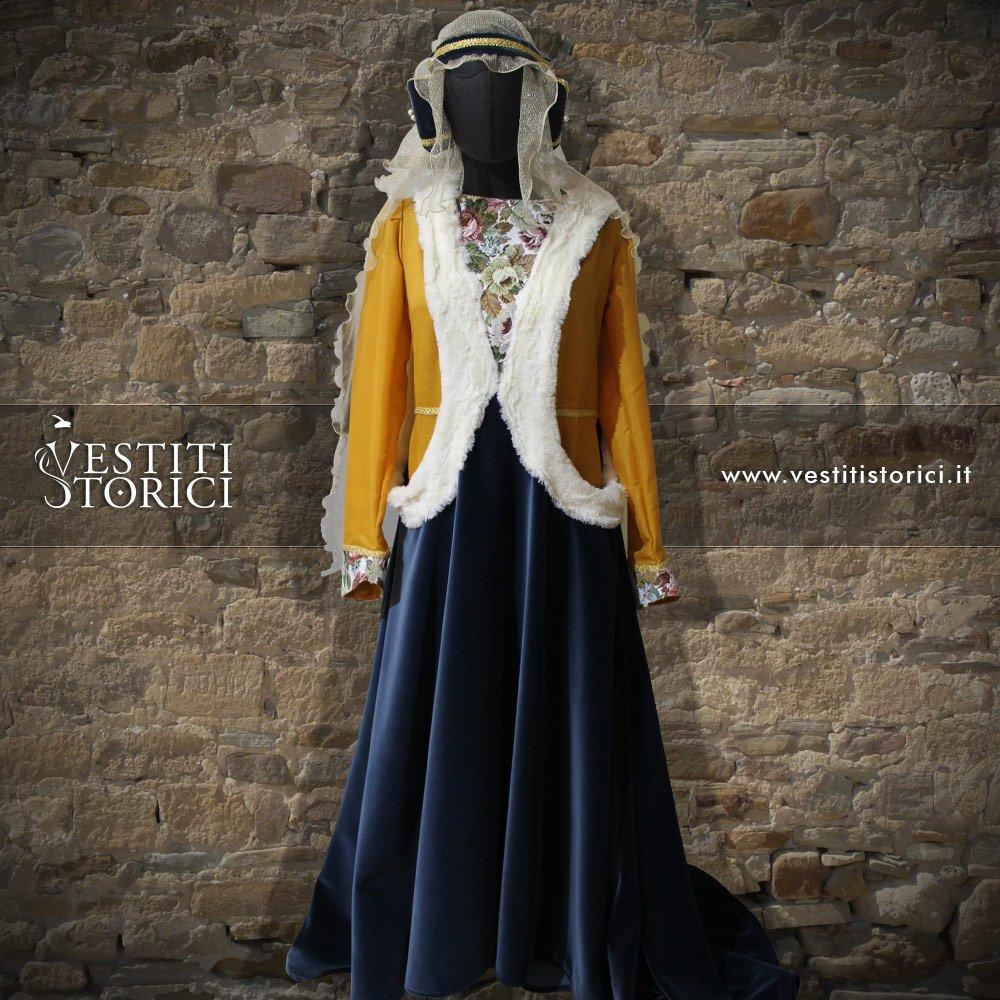 Vestito Tardo Medioevo Nobildonna