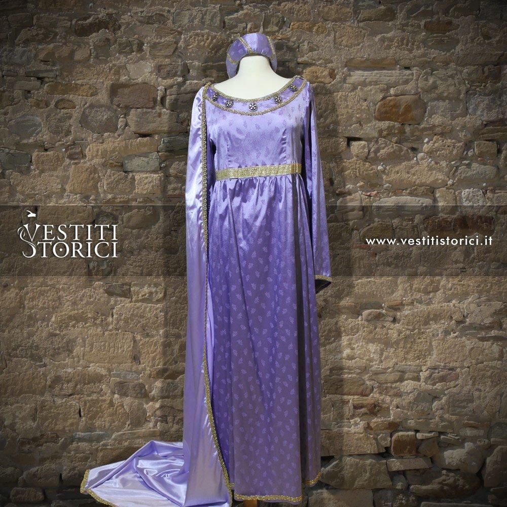 Vestito medievale nobildonna m f151 vestiti storici - Alla tavola della principessa costanza 2017 ...