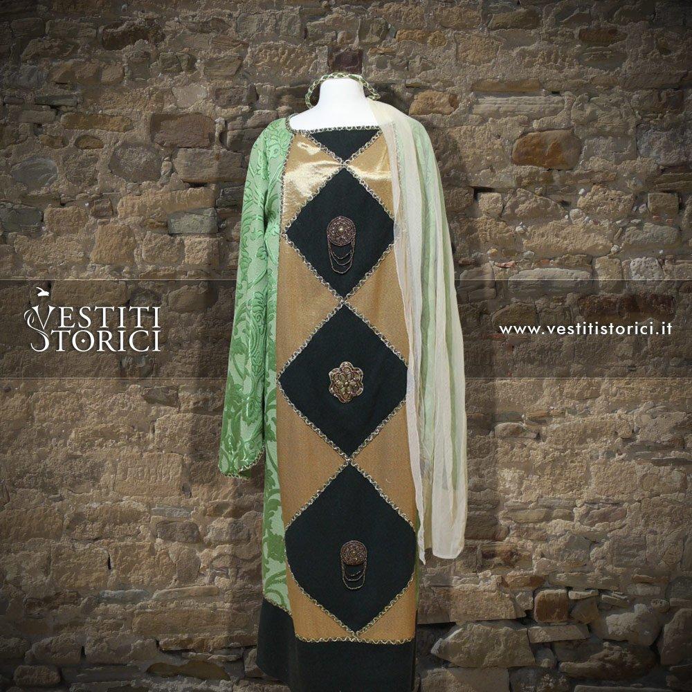 Vestiti storici vestito medievale nobildonna m f154 - Alla tavola della principessa costanza 2017 ...